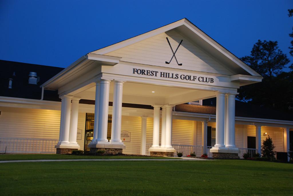 Forest hills golf club porte cochere addition 2km architects for Porte cochere